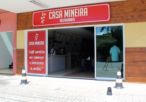 Placa Casa Mineira Restaurante